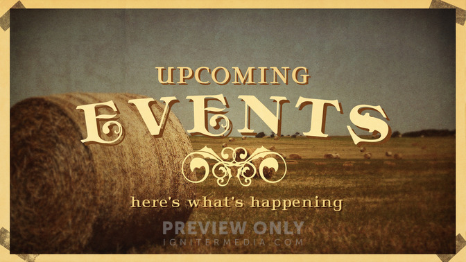 Fall Vintage - Upcoming Events - Title Graphics | Igniter ...